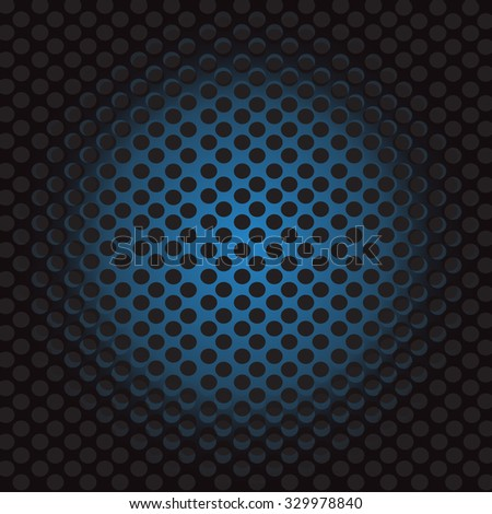 Abstract blue metal background - stock vector