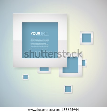 Abstract blue metal frame text box design Eps 10 vector illustration