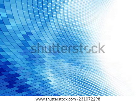 Abstract blue perspective background - stock vector