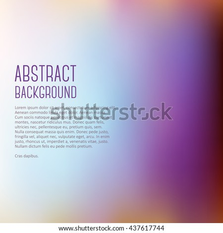 Abstract blue pink blur color gradient background for web, presentations and prints. Vector illustration - stock vector