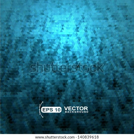 Abstract blue pixel ,polygonal,low poly,geometric background - stock vector