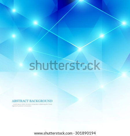 Abstract blue polygon technology line colorful vector