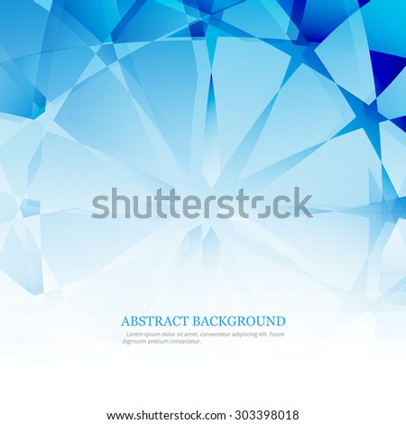 Abstract blue polygon texture colorful background illustration vector - stock vector