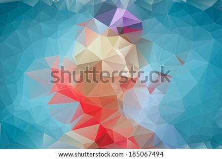 Abstract blue polygonal background. Triangles background for your design - stock vector