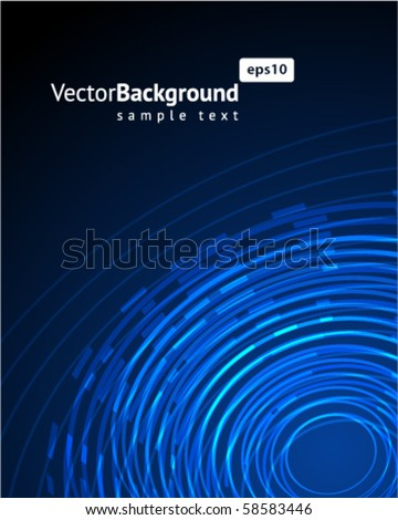 Abstract  blue radio wave background