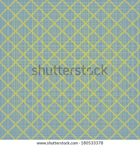 Abstract blue seamless pattern with yellow mosaic. Abstract vintage background for your design. Vector illustration/EPS 10