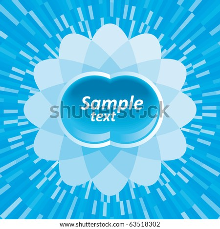 Abstract blue shine background with shine effect