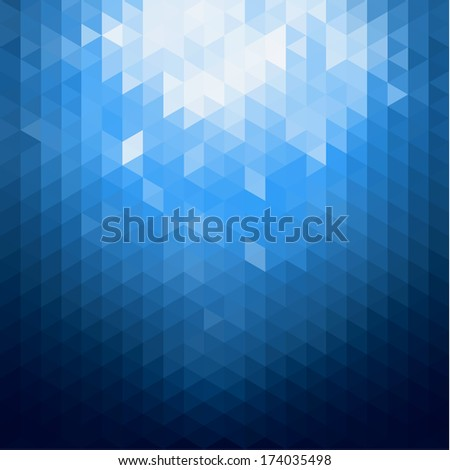 Abstract blue shiny background - stock vector