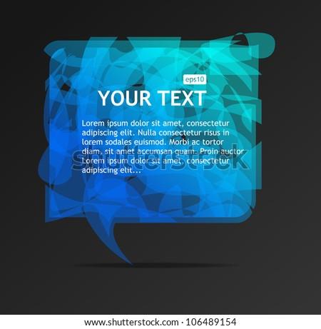 Abstract blue speech bubble - stock vector