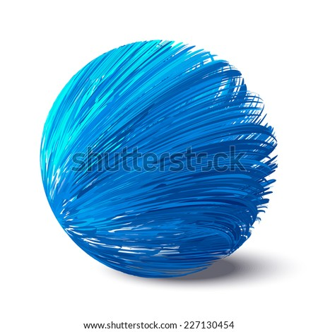 Abstract blue sphere. - stock vector