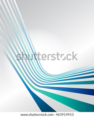 abstract blue strips vector web design template in perspective