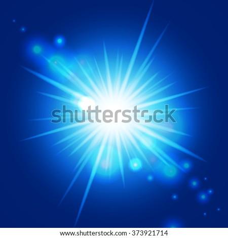 Abstract blue sunburst. Vector background for you design, web design, desktop wallpaper or website. - stock vector
