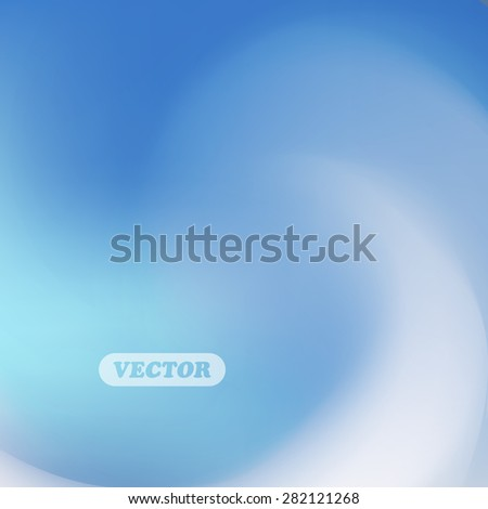 Abstract blue swirl background - Vector background - stock vector