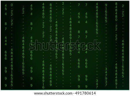 Abstract Blue Technology Background. Binary Computer Code. Programming Coding Hacker concept. Vector Background Illustration.