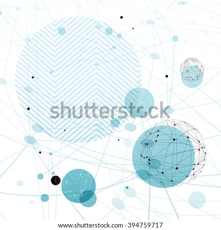 Abstract blue technology background. Design template for covers, brochures, etc