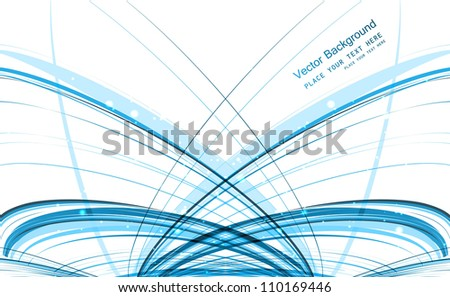 abstract blue technology stylish line colorful wave vector design