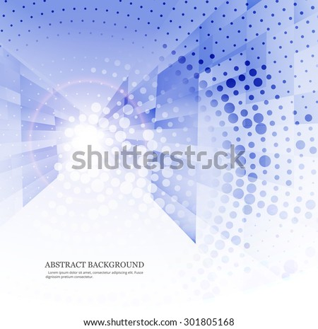 Abstract blue technology wave colorful design - stock vector