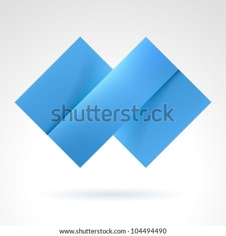 Abstract Blue Tile. Illustration on white for design - stock vector