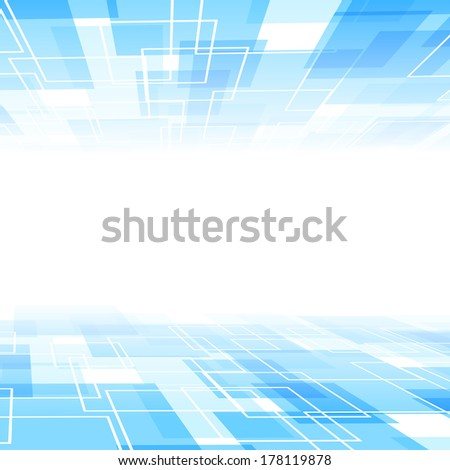 Abstract blue tile perspective background template. Vector illustration - stock vector