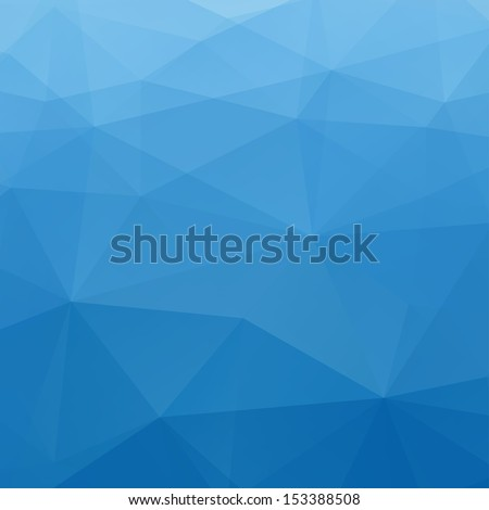 Abstract Blue Triangle Geometrical Background, Vector Illustration EPS10 - stock vector
