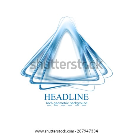 Abstract blue triangles shapes corporate logo. Vector design background - stock vector