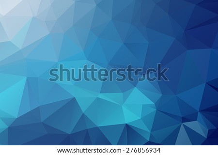 Abstract Blue Triangular Background 2 - stock vector