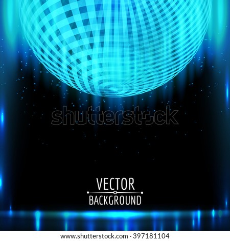 Abstract blue vector background. Blue shining light glow. - stock vector