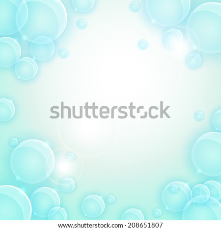 Abstract blue vector background or frame for web design EPS 10
