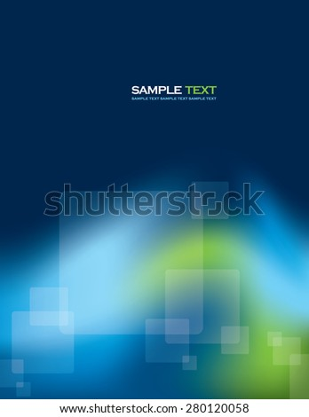 Abstract Blue Vector Background With Transparent Squares. - stock vector