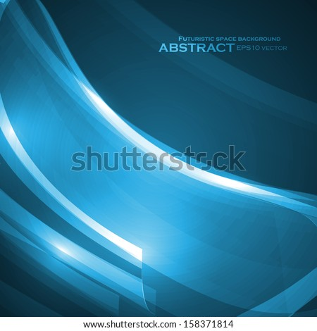 Abstract blue vector illustration, technology background eps10
