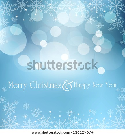 abstract blue vector New Year's Eve, Christmas background - stock vector