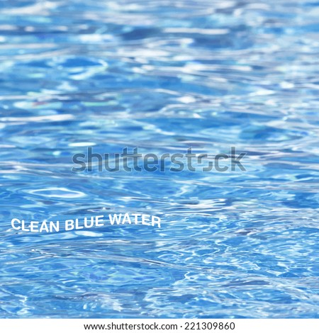 Abstract Blue Water Sea Vector Background - stock vector