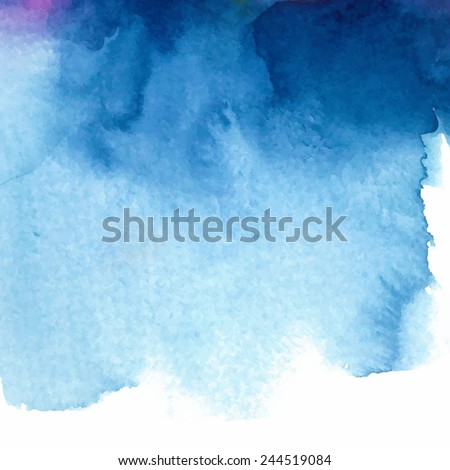 abstract blue watercolor background/ divorce/ vector illustration  - stock vector