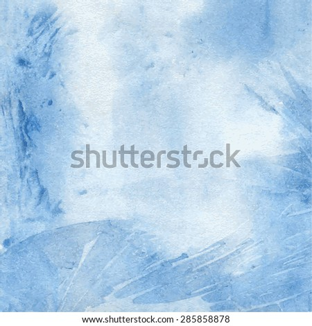 Abstract blue watercolor background. Vector eps10 - stock vector