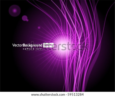 Abstract blue waveform vector background - stock vector