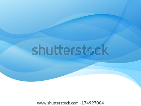 Abstract blue waves - modern background. Vector illustration - stock vector