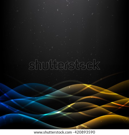 Abstract blue wavy background or web header