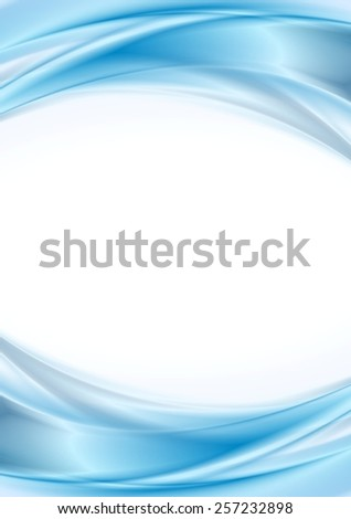 Abstract blue wavy background. Vector design - stock vector
