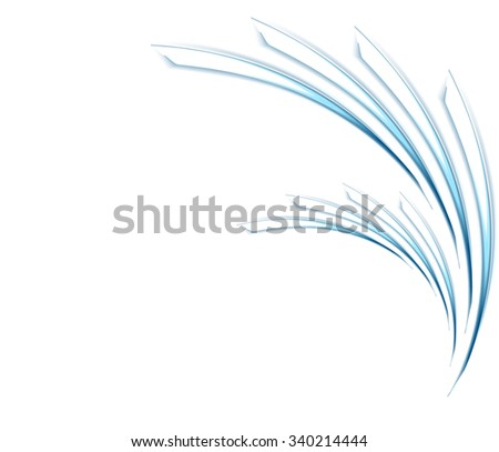 Abstract blue wavy vector pattern design - stock vector