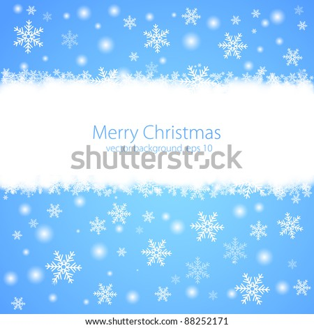 Abstract blue winter background. Vector - stock vector