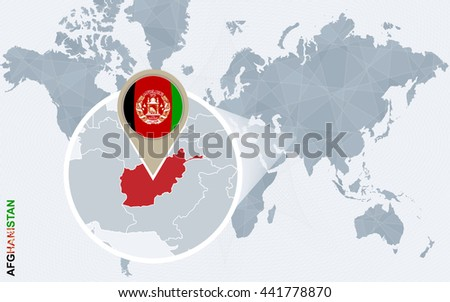 Abstract blue world map magnified afghanistan stock vector 441778870 abstract blue world map with magnified afghanistan afghanistan flag and map vector illustration gumiabroncs Choice Image