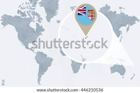 Abstract blue world map magnified fiji stock photo photo vector abstract blue world map with magnified fiji vector illustration gumiabroncs Gallery