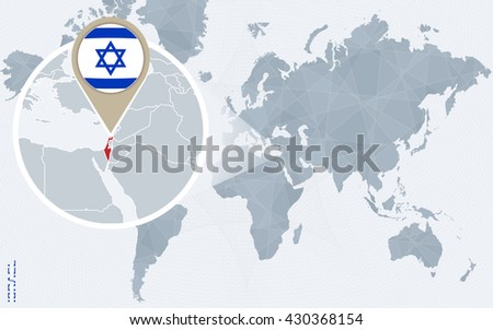Israel Map Stock Images RoyaltyFree Images Vectors Shutterstock - Israel world map