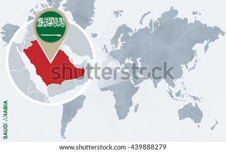 Abstract blue world map magnified saudi stock vector 439888279 abstract blue world map with magnified saudi arabia saudi arabia flag and map vector gumiabroncs Image collections