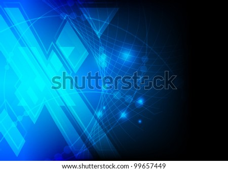 abstract blue xtreme abstract technology background vector