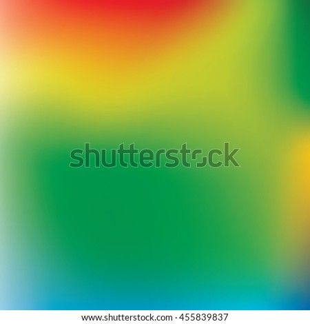 Abstract blur background in orange, yellow, blue and green colors