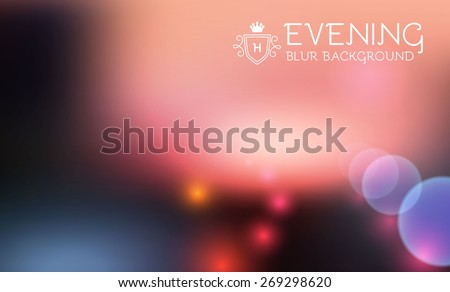 Abstract blur background with lights. Vector illustration