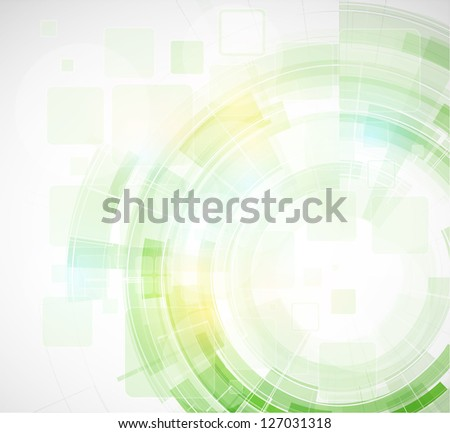 abstract blur eco green computer technology business background - stock vector