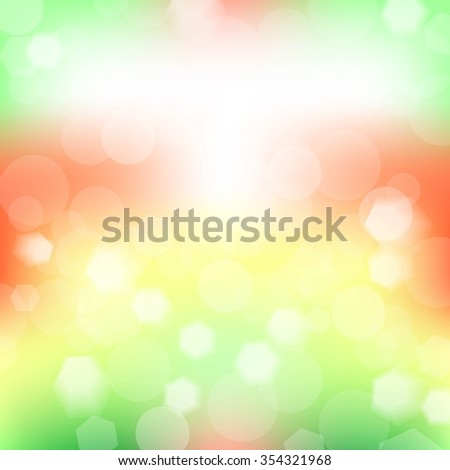 Abstract blur garden pattern. Geometrical ornament background. Vector illustration.