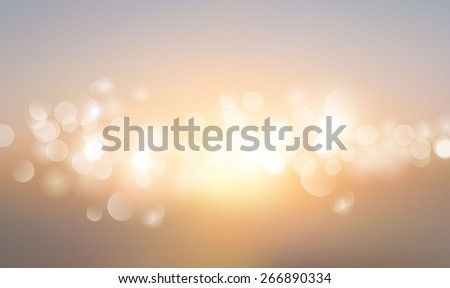 Abstract blurred background, sunset colors with sparkles. vector eps10. - stock vector